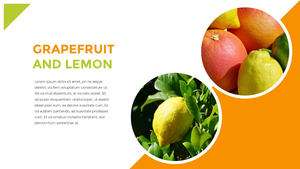 신선한 과일 파워포인트 template