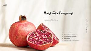석류의 효능 PPT 프레젠테이션 템플릿