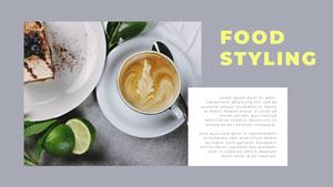 Food Stylist Portfolio 프레젠테이션 템플릿