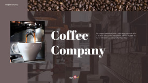 커피 회사 (Coffee Company) 디자인 템플릿