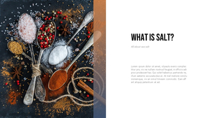 소금, 염전 (salt) 파워포인트 템플릿