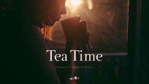 티 타임 (Tea Time) 16:9 ppt template