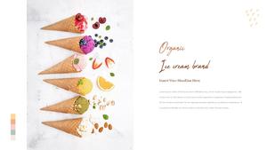 유기농 아이스크림 ppt 템플릿