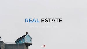 부동산 배경(건물, 집, 빌딩) 파워포인트 배경화면 템플릿 #1