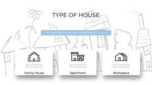 부동산 배경(건물, 집, 빌딩) 파워포인트 배경화면 템플릿 #4