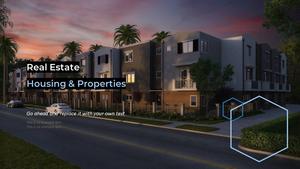 부동산 배경(건물, 집, 빌딩) 파워포인트 배경화면 템플릿 #5