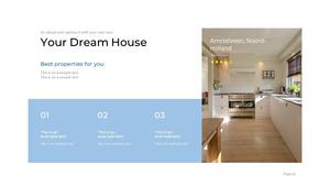 부동산 배경(건물, 집, 빌딩) 파워포인트 배경화면 템플릿 #11