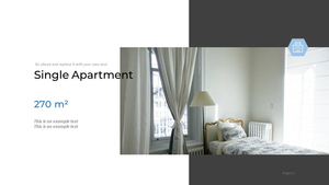 부동산 배경(건물, 집, 빌딩) 파워포인트 배경화면 템플릿 #13