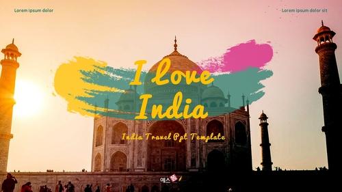 인도 여행 (India) 프레젠테이션 - 섬네일 1page