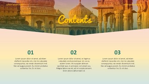 인도 여행 (India) 프레젠테이션 - 섬네일 2page