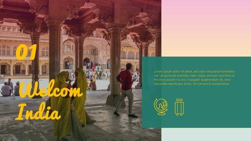 인도 여행 (India) 프레젠테이션 - 섬네일 3page