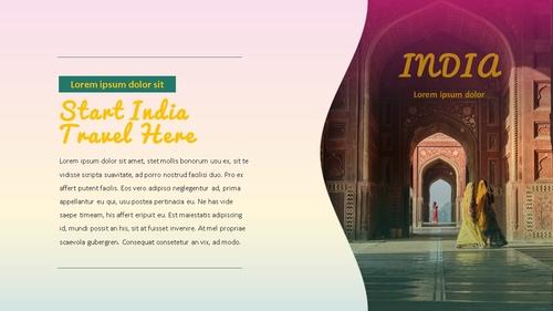 인도 여행 (India) 프레젠테이션 - 섬네일 5page