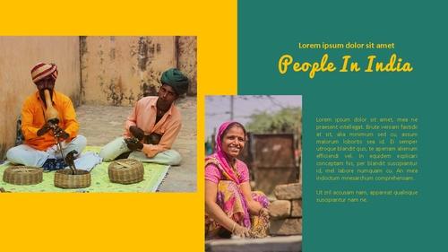 인도 여행 (India) 프레젠테이션 - 섬네일 24page