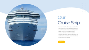 Cruise Ship (크루즈) PPT template