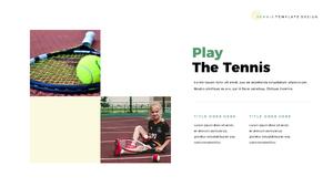 테니스 (Tennis) 파워포인트 template