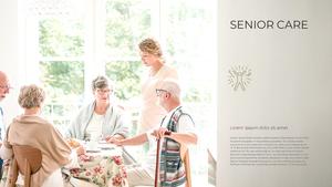 노인 케어 (Senior Care) 템플릿 배경