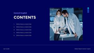 Medical Report (병원) 프레젠테이션 PPT