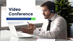 Video Conference Service 피치덱 템플릿
