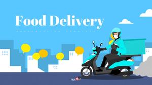음식 배달 서비스 (Food Delivery) 피피티 배경