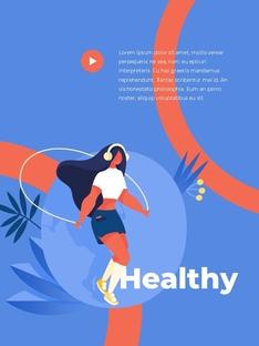 Create Your Body 스포츠 세로형 템플릿
