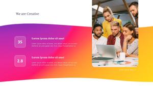 Creative Business (추상 배경) Pitch Deck