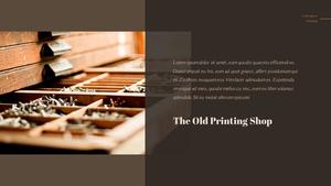 활판 인쇄 파워포인트 템플릿