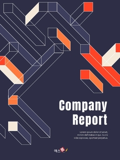 패턴 Business Report 세로형 템플릿