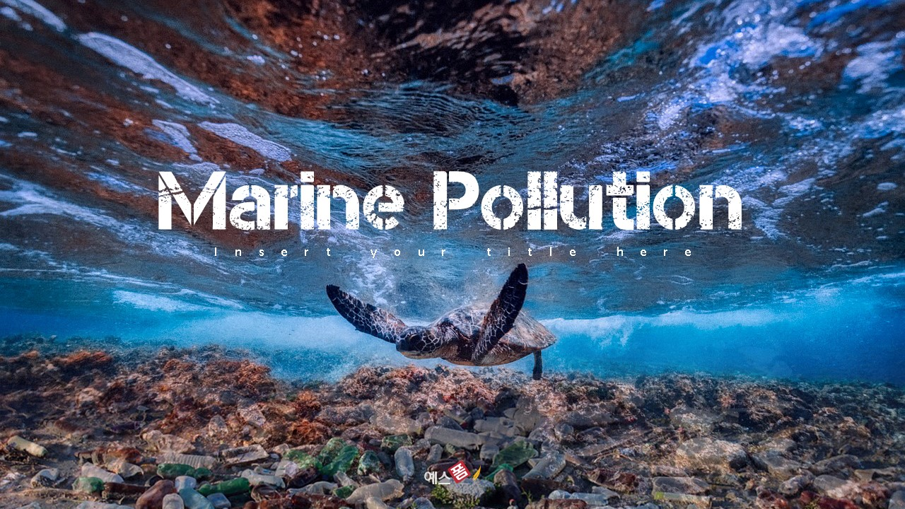 Marine Pollution 해양 오염 ppt 템플릿-미리보기