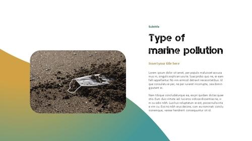 Marine Pollution 해양 오염 ppt 템플릿 - 섬네일 3page