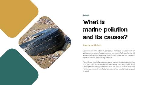 Marine Pollution 해양 오염 ppt 템플릿 - 섬네일 4page