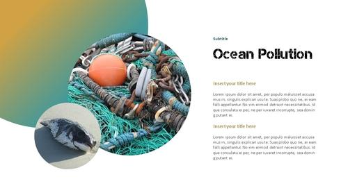 Marine Pollution 해양 오염 ppt 템플릿 - 섬네일 6page