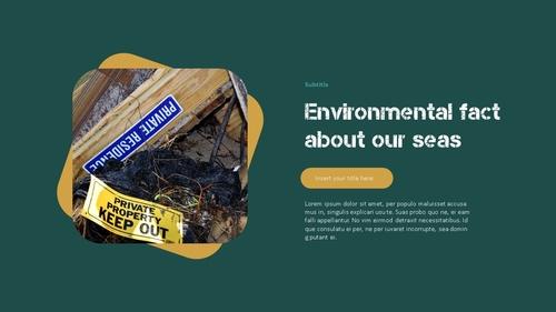 Marine Pollution 해양 오염 ppt 템플릿 - 섬네일 10page
