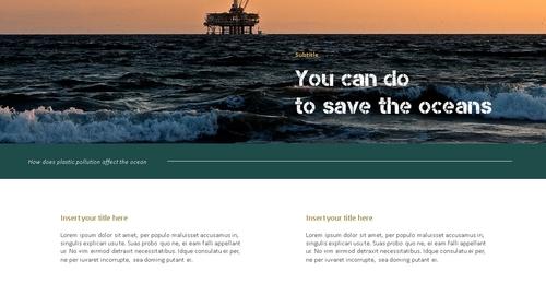 Marine Pollution 해양 오염 ppt 템플릿 - 섬네일 12page