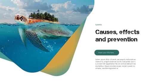 Marine Pollution 해양 오염 ppt 템플릿 - 섬네일 13page