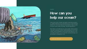 Marine Pollution 해양 오염 ppt 템플릿 #22