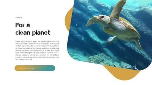 Marine Pollution 해양 오염 ppt 템플릿 - 섬네일 24page