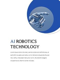 AI Technology (인공지능) ppt template