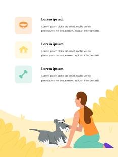 My Pet Friends (반려동물) 세로형 ppt template
