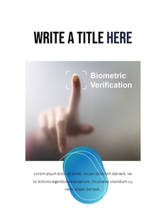 보안 생체인식 (Biometrics) 세로형 PPT
