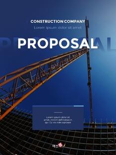 건설 회사 제안서 Vertical 템플릿