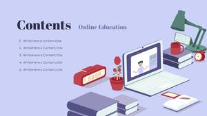 Online Education (온라인 교육) 16:9 template