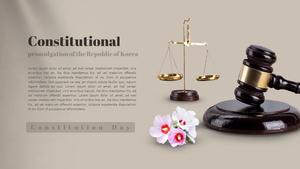 제헌절 PPT 배경템플릿 (사회, 법률)