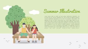 여름 테마 일러스트 PPT 배경 (Summer)