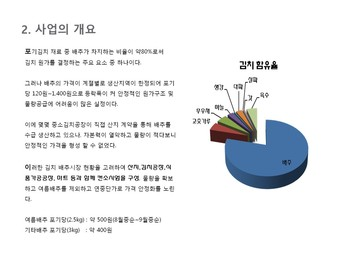 김치가공 제조 사업계획서 page 10