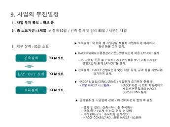 김치가공 제조 사업계획서 #43