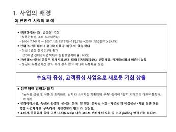 김치가공 제조 사업계획서 page 7