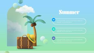 휴가 (Vacation) 여름 피피티 배경