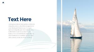 요트 SailBoat PowerPoint Template