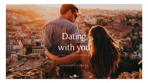 데이트 연인 ppt Template