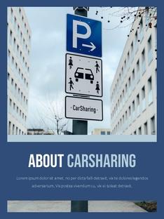 Car Sharing (카 셰어링) 파워포인트 세로형
